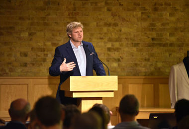 Matthew Hoggard speaking at Festival of Literature 2020