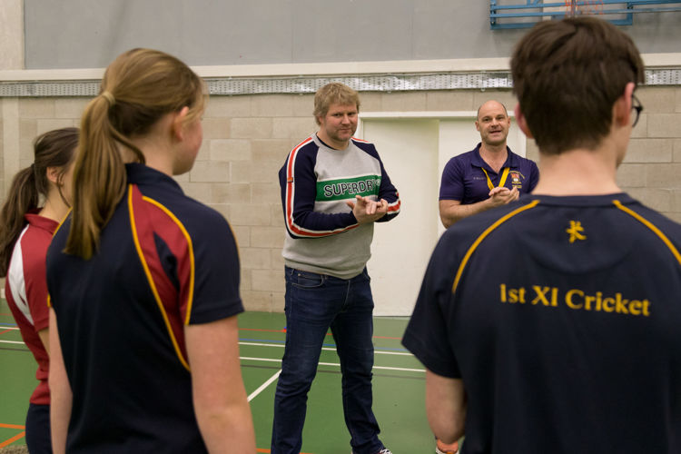 Matthew Hoggard talks to Senior School pupils