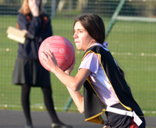 Alliott house girl in junior house netball 2020