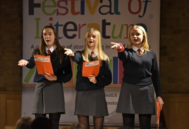 Literature Live 2020 Girls performing in FLT