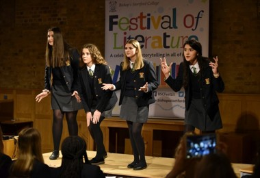 Literature Live 2020 Tee House girls performing