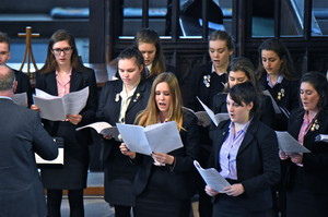 Senior School Choir singing