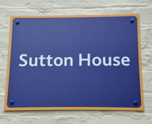 Sutton House Sign