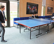 Collett House pupils playing table tennis