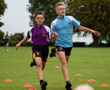Collett and Hayward House Pupils Running
