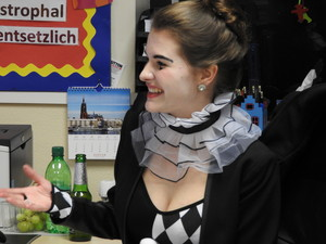 Sixth Form Student Dressed up for German Karneval