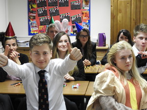 Sixth Form Students in German Class for Karneval