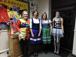 Sixth Formers Dressed up for German Karneval