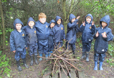 Year 2 Pupils Building Fire