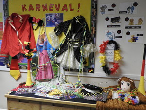 German Karneval Display in Sixth Form Class