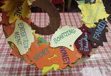 PS Boarders' Thanksgiving Wreaths