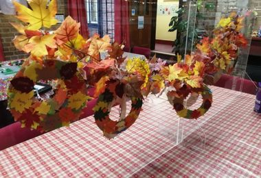 PS Boarders' Thanksgiving Wreaths line