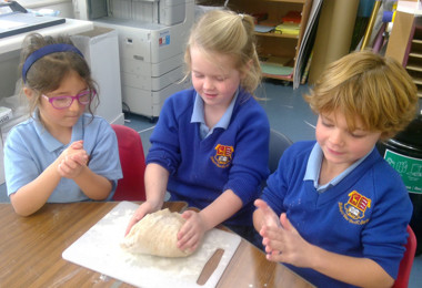 Year One Making Chapatis