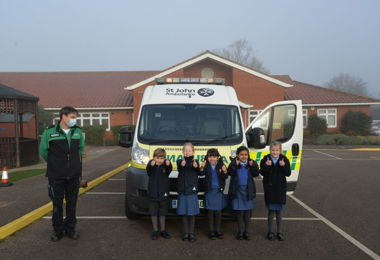 Ambulance Visit Lights Up Pre-Prep