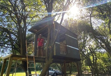 Amman Builds Tree House and Wind Turbine During Lockdown
