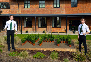 Will and Owain Plant Commemorative Hedge for RPH