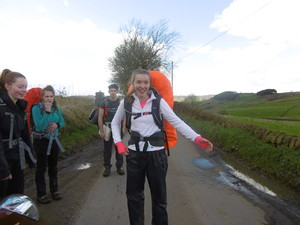 Duke of Edinburgh pupils with rucksacks