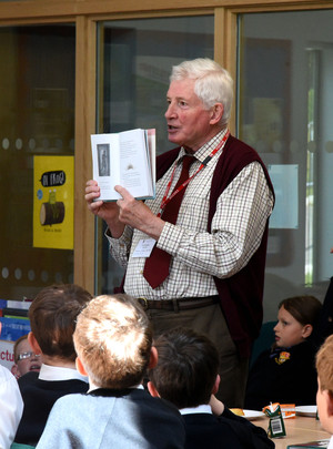 Prep School Author Talk in Library