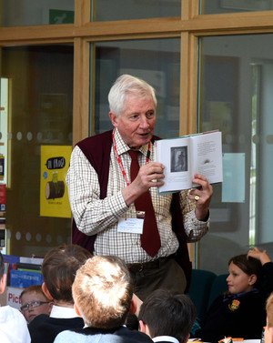 Author Talk in Prep School library