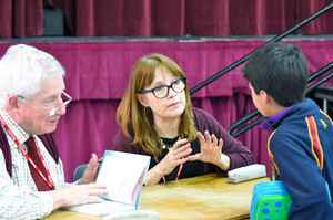 Authors chatting to Prep School Boy