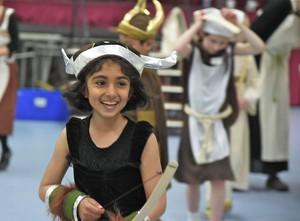 Prep School Pupil enjoing VIking Day