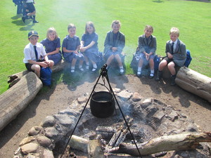 Prep School Pupils on Trip around hearth