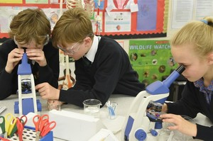 Prep School Pupils in Science Lesson