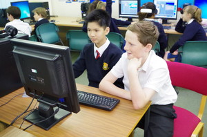 Prep School Boys on Computer