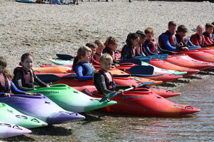 Prep School Pupils in Kayaks on Cornwall Trip