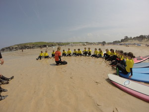 Prep School in Cornwall on Beach