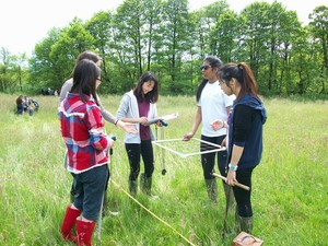 Girls fieldwork on Biology trip