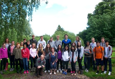 Lower Sixth Biology group and teachers