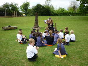 Jackanory visit Pre-Prep for Share A Story Month