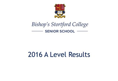 A Level Results 2016