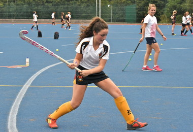 Pre-season hockey training for Senior School girls hockey squads