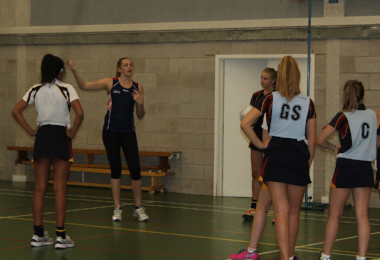 England Player Coaches Elite Netballers