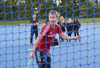 GB hockey goalkeeper coaches at the College