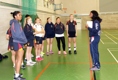 England Netball Player Inspires Senior Netball Team