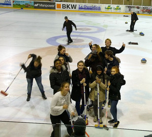 6th Form French trip to Switzerland Nov 16 - Curling