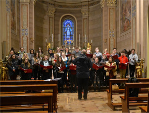 Choir Trip to Como, singing in church