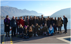 Choir Trip to Lake Como, by the lake