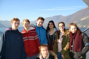 Choir Trip to Lake Como, group of pupils