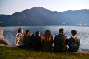 Choir Trip to Lake Como, looking over lake