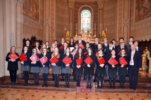 Choir Trip to Lake Como, choir with music scores