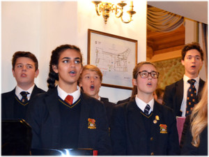 Choir Trip to Lake Como, group of pupils singing