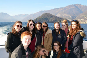 Choir Trip to Lake Como, pupils on boat