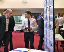 EPQ Presentation Afternoon, Pupil with Chris Woodhouse