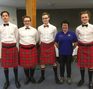 Burns Night Pupils with Mrs Lynch