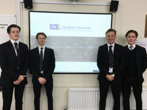Sixth Form Boys through to Investor Challenge Semi Final