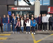 Upper Sixth Physics Trip to CERN Pupils Together